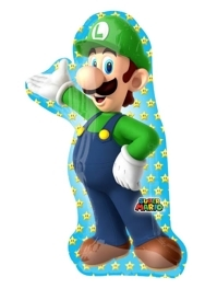 "38"" Luigi Shape Mario Brothers Balloon"