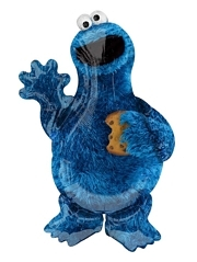 "35"" Cookie Monster Shape Sesame Street Balloon"