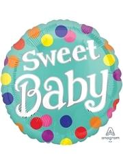 "17"" Sweet Baby Dots Balloon"