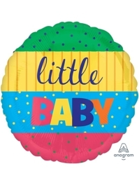 """17"""" Baby Stacking Stripes Baby Balloon"""