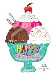 "23"" Ice Cream Sundae HBD Food Balloon"