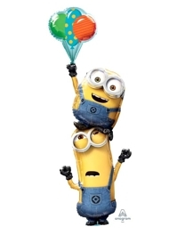 """63"""" Minions Stacker Despicable Me Balloon"""