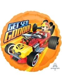 "17"" Mickey Roadster Get Set Go Disney Balloon"