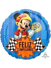 "17"" Mickey Roadster Feliz Cumpleanos Disney Balloon"