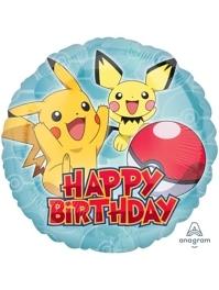 """17"""" Pokemon Birthday Balloon"""