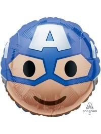 "17"" Captain America Emoji Marvel Balloon"