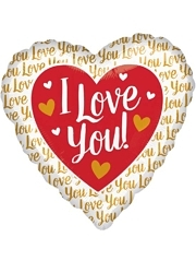 "17"" I Love You Gold Balloon"