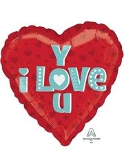 "17"" I Love You Type Balloon"