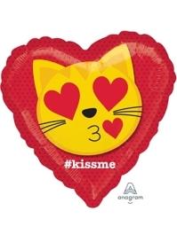 "17"" Cat Emoticon Kiss Balloon"