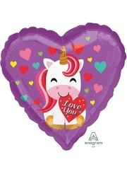 "17"" I Love You Unicorn Balloon"