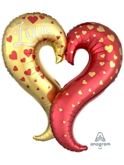 "30"" Curvy Heart Balloon Shape"
