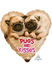 "17"" Avanti Pugs & Kisses Balloon"