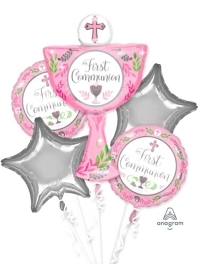 Communion Day Girl Religious Balloon Assortment