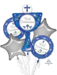 Communion Day Boy Religious Balloon Assortment