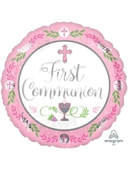 "18"" Communion Day Girl Religious Balloon"