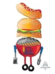 """62"""" Summer BBQ Food Balloon"""