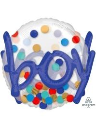 "36"" It's A Boy Confetti Dots Balloon"