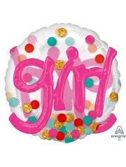 "36"" It's A Gril Confetti Dots Balloon"