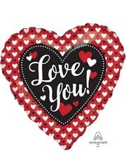 "17"" Heart To Heart Love You Balloon"