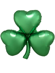 "29"" Satin Emerald Shamrock Balloon"