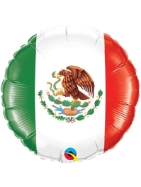 "18"" Mexican Flag Fiesta Balloon"