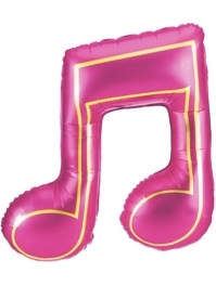 """40"""" Pink Double Note Music Balloon"""