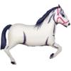 "43"" White Horse Cowboy Balloon"