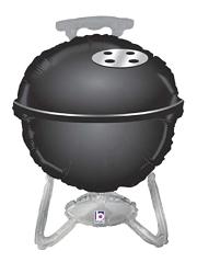 "32"" Black BBQ Grill Balloon"