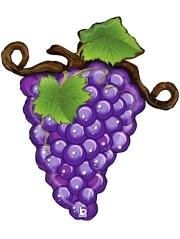 "31"" Linky Purple Grapes Food Balloon"