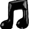 "40"" Black Double Note Music Balloon"