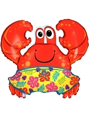 "36"" Beach Crab Ocean Balloon"