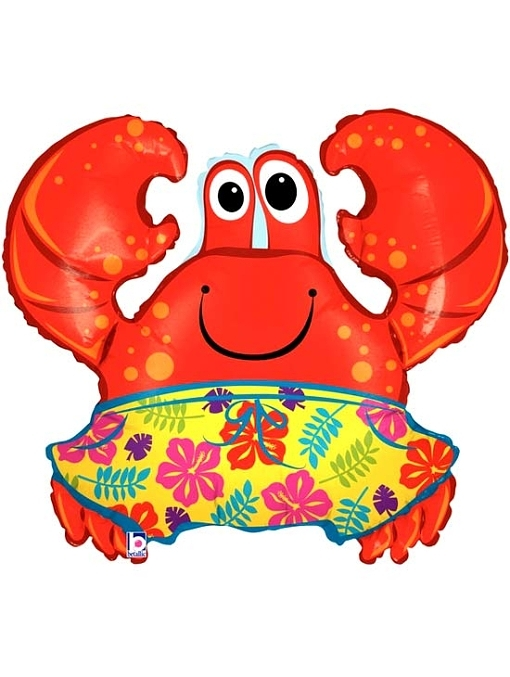 "36"" Beach Crab Ocean Balloon"
