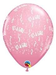 "11"" It's A Girl Around Baby Balloon"