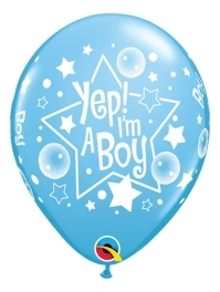 "11"" Yep! I'm A Boy Baby Balloon"