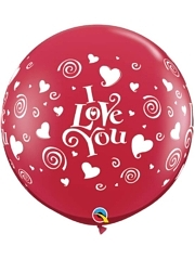 3' I Love You Swirling Hearts Balloon