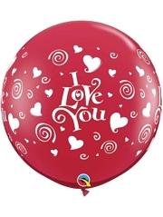 3' I Love You Swirling Hearts Balloon