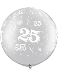 "30"" 25 A Round Anniversary Balloon"