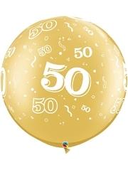 "30"" 50 A Round Anniversary Balloon"