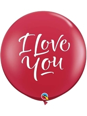 "36"" I Love You Script Mardern Balloon"