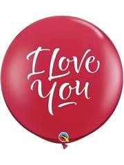 "36"" I Love You Script Mardern Balloon"