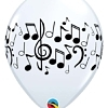 "11"" Music Notes Latex Balloons"