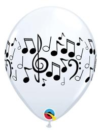 "11"" Music Notes Latex Balloons"