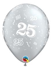 "11"" 25 A Round Anniversary Balloon"