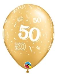 "11"" 50 A Round Anniversary Balloon"