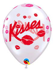 "11"" Kisses I Love You Balloon"