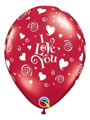"11"" I Love You Swirling Hearts Balloon"