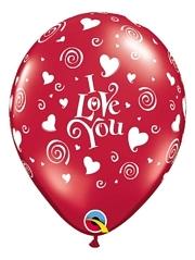 "11"" I Love You Swirling Hearts Balloon"