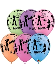 "11"" Disco Music Balloons"