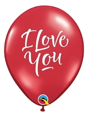 "11"" I Love You Script Modern Balloon"