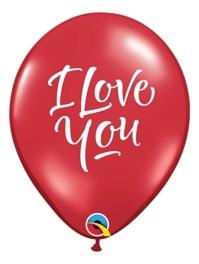 "11"" I Love You Script Modern Balloon"